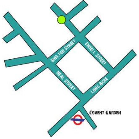 How to find us from Covent Garden Tube Station